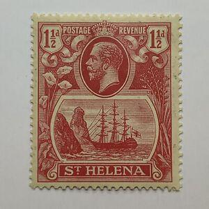 1922-37 ST. HELENA UNUSED STAMP SG #99F (MICHEL 66B) DEEP CARMINE