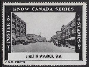 Canada 1938 Cinderella: cc3090 Know Canada Series- Saskatoon Street -dw466e