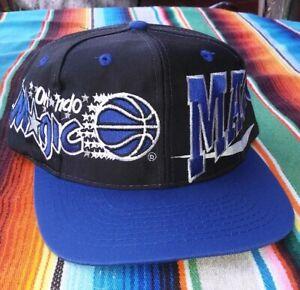 03d80862 Vintage 90's Orlando Magic Logo Athletic Snapback Hat Cap Big Logo ...