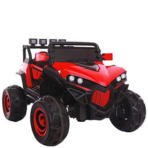 Auto elettrica jeep 12V due posti per bambini con telecomando fuoristrada rojo
