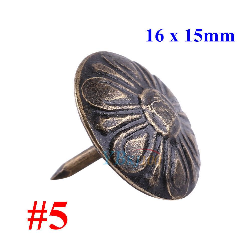 50 Ziernägel//Polsternägel antik  gotisch hochgewölbt 16 mm  dm