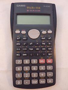 casio fx 82ms business scientific calculator ln with instructions rh ebay com casio scientific calculator fx-82es manual Scientific Calculator Casio FX 570