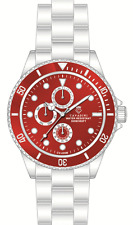 Buceadores Cavadini llena Calendario gmt reloj 30 bar agua densa masivamente Ferari rojo nuevo