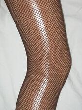 Dark Redish Brown Fishnet Tights. Ladies 10-14. NEW dancer pantyhose