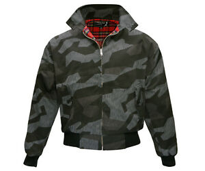 Heavy-Harrington-Jacket-Tartan-Lined-Dark-Splinter-Camo-Punk-Skinhead-Jacke-Army