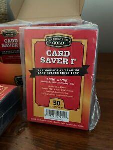 50 ct Card Saver 1 I CS1 Cardboard Gold PSA BGS SGC Semi-Rigid Grading Holders