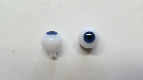 Old doll eyes blue 10mm blue mouth blown eyes for antique doll