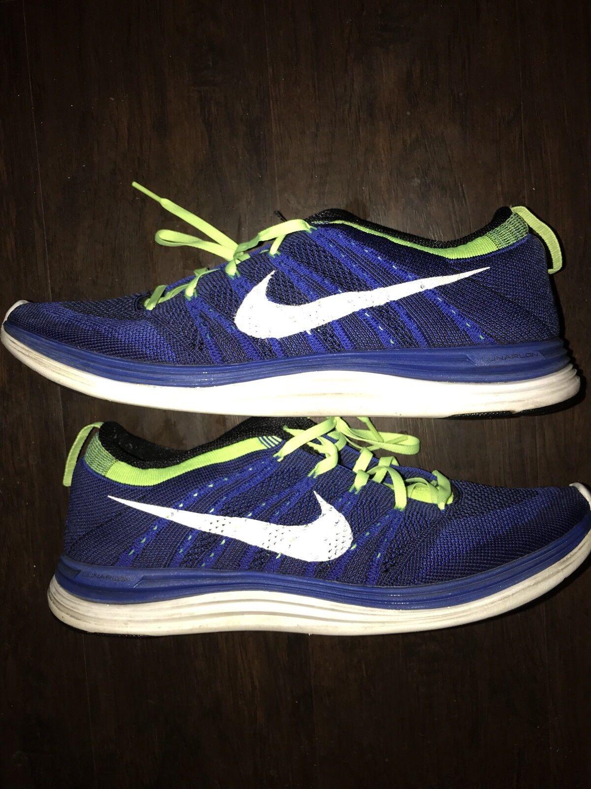 buy online 50e60 6d911 nike nike nike flyknit lunar one match royal volt sz 11 des chaussures d  hommes ...