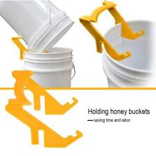 Bee Honey Bucket Plastic Stand Rack Frame Grip Holder N5A5 Beekeepers Beeke C5Z8