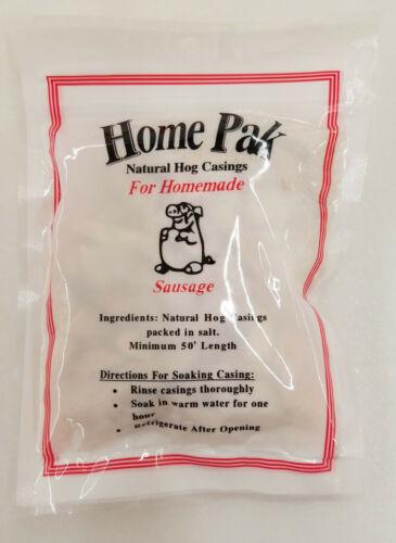 HOME PACK NATURAL HOG CASINGS STUFFS APPROX 60-75 LB TOTAL 3 PACKS-