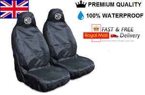 Mg Roadster Premium Protectores De cubiertas de asiento de coche 100/% A Prueba De Agua//Negro