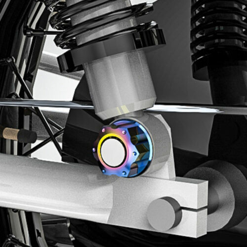 M8 x 1.25 Titanium Ti Hex Colorful Flange Flower Nut for Motorcycle Bicycle DIY