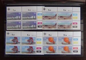 South-Africa-1983-Weather-Stations-set-in-block-x-4-MNH