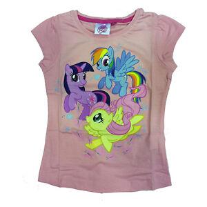 MI-PEQUENO-PONI-camiseta-rosa-de-algodon-con-estampado-de-nina