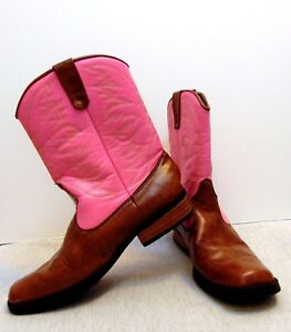 0cd7dc0f140 Details about Smart fit Skid-resistant Western Cowgirl Pink & Brown Boots  Kids Girl Size 3.5