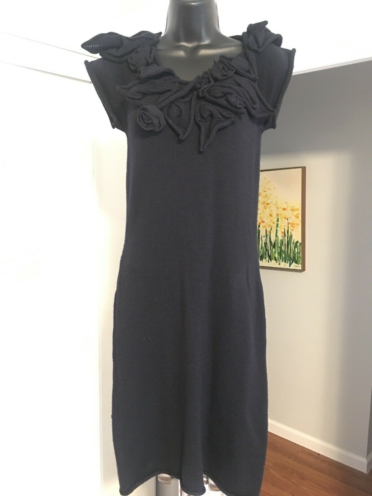 Adam Adam Lippes Layerot Embossed Embroiderot  Perfect schwarz Dress SZ S R2