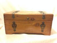 Vintage Wood Hope Treasure Chest Trinket Jewelry Box McGraw Box Co