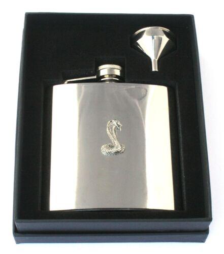 Snake 6oz Hip Flask Personalised Wildlfie Gift Boxed FREE ENGRAVING 334