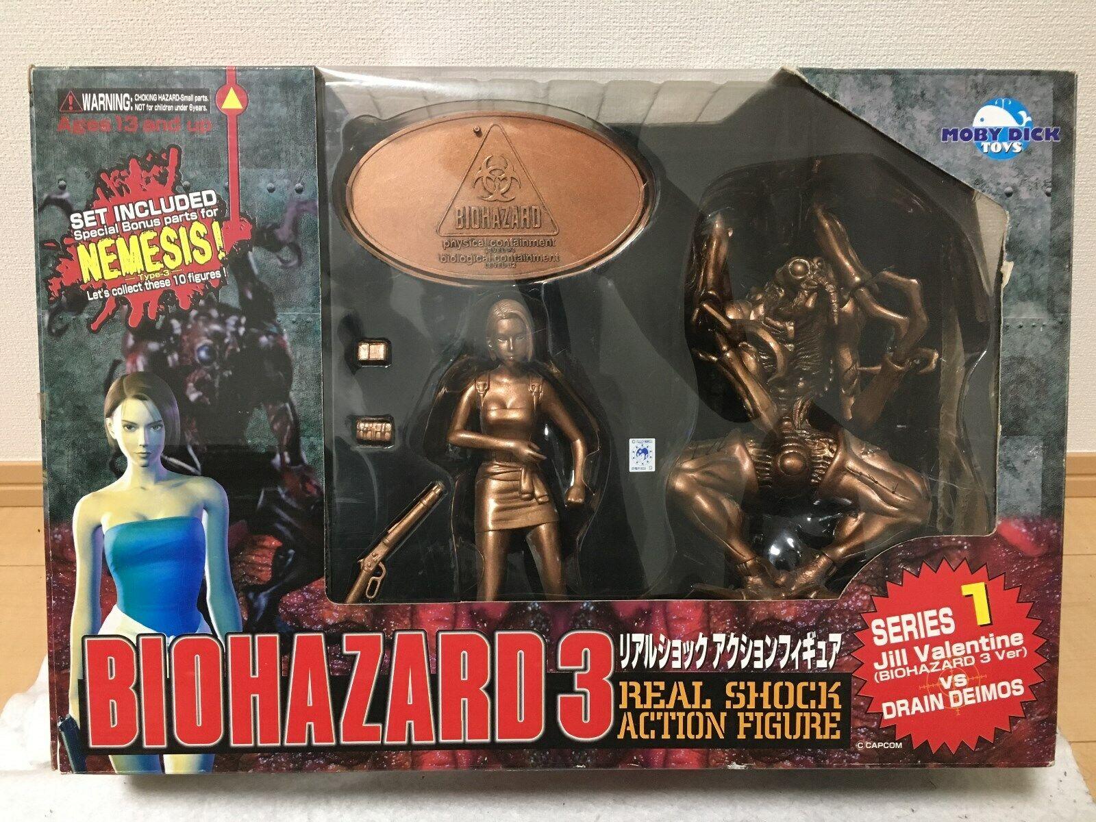 Biofara 3 Real Shock verkan Figur serier 1 Jill mot Deimons Moby Dick leksaks