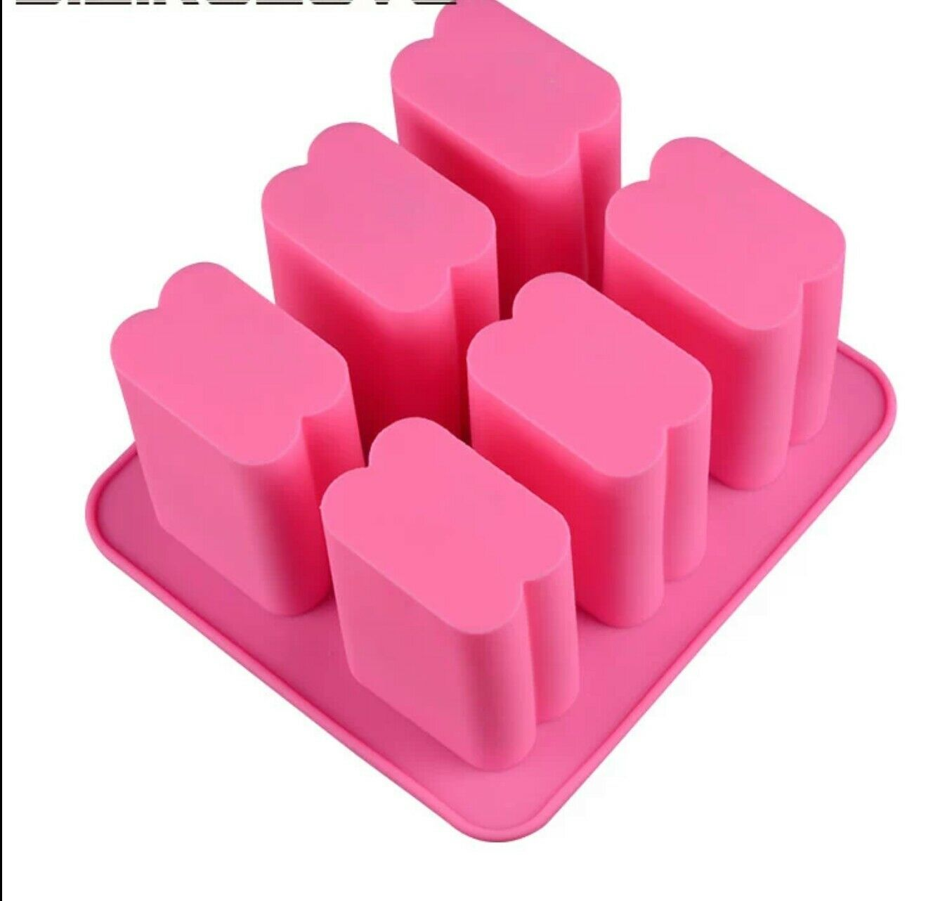 1.58*2.5*4 Inch 6 cavity Silicone DIY Soap Mold Factory Style Bar soap