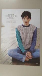 82d9eeea2dba Cleckheaton Pattern  405 New Look Aran Sweater using Superfine ...