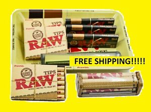 Bundle-Combo-3x-RAW-Black-1-1-4-Rolling-Paper-3x-PreRolled-Tips-5x7-Tray-Tube