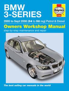bmw 3 series e90 e91 2005 2008 haynes manual 4782 new ebay rh ebay com bmw e90 owners manual bmw e90 owners manual pdf