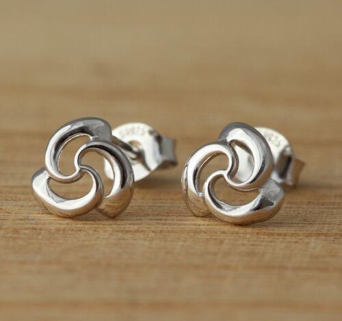 925 Sterling Silver Plain Stud Earrings Pair Stars Heart Cat Butterfly UK Seller