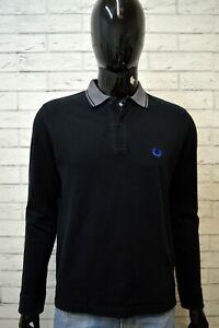 Polo-FRED-PERRY-Maglia-SPECIAL-EDITION-Uomo-Maglietta-Size-42-107-Cm-Shirt-Nera