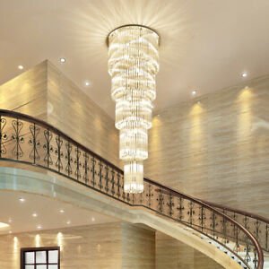 Details About Luxury K9 Crystal Light Hotel Lobby Chandeliers Villa Stairs Ceiling Lights 6277