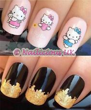 Nail Art Set # 102. Hello Kitty Angel Agua transfers/decals/stickers & Hoja De Oro