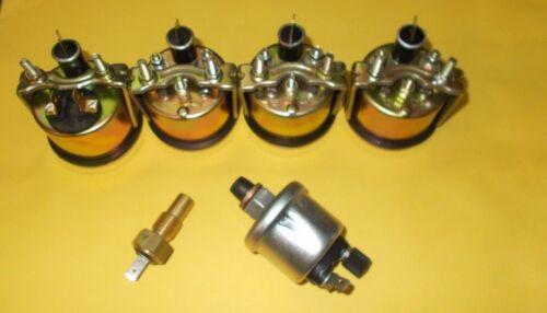 Temp Volt Fuel Gauge-BLK With Oil+temp Sender 52mm Electrical Oil Pressure