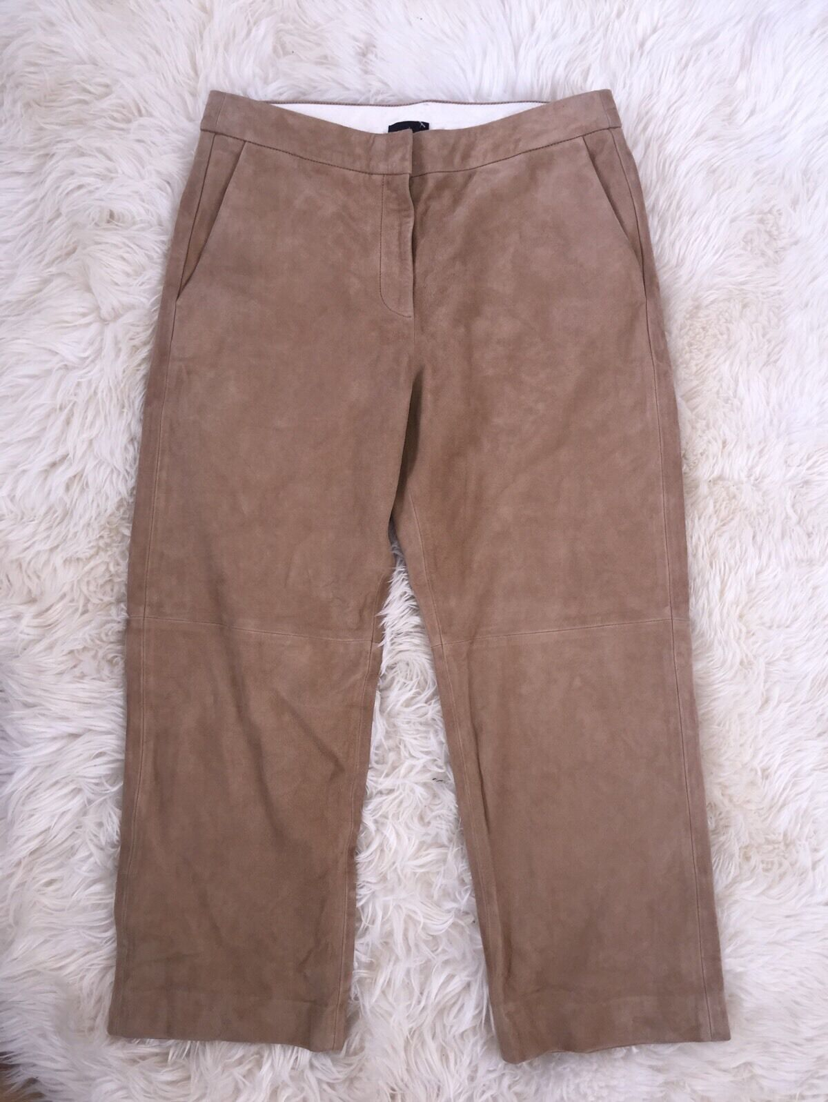 JCrew Collection Suede Patio Pant StyleE4583  495 Camel New Size 10 NEW