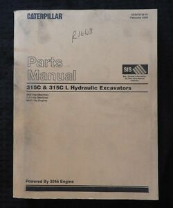 Caterpillar-315-315CL-Longreach-Excavadora-Tractor-Partes-Catalog-Manual