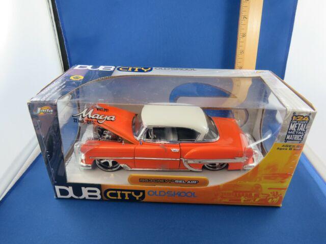 DUB CITY OLD SKOOL - 1953 CHEVY BEL AIR - ORANGE/WHITE TOP