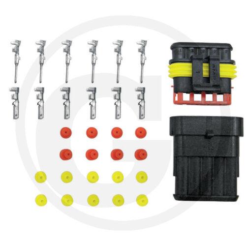 Wasserdichter Steckverbinder 5-polig/_Flachstecker/_Landmaschine/_Unimog/_Traktor