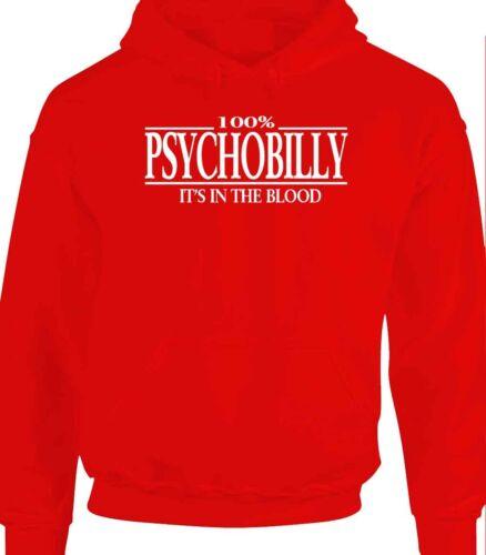 Psychobilly Hoody T-Shirt Sweater 100/% Skin Head Hoodie Punk