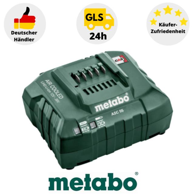 "Metabo Ladegerät ASC 55 /""AIR COOLED/"", LiHD Li-Ion 12V-36 V 627044000,2"