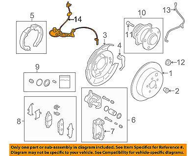 SUBARU OEM 10-14 Outback ABS Anti-lock Brakes-Front Speed Sensor 27540AJ13A