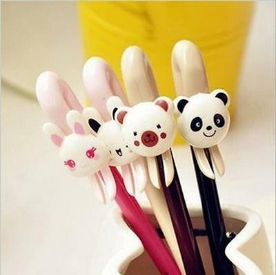 4Pc Cute Animal Gel Pen Rabbit Bear Panda Neutral Pen Children Stationary 0.38mm