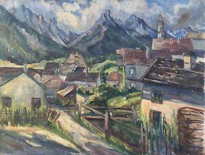 Painter-Hedwig-Lindemann-1872-landscape-in-Bavaria-Exhibition-55-x-67-cm