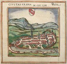 BERN - Civitas Ursina - Braun-Hogenberg - kolorierter Kupferstich 1572