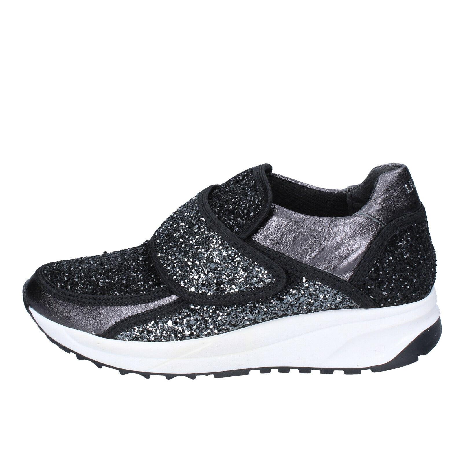 Womens shoes shoes shoes LIU JO 4 (EU 37) sneakers black grey glitter BS606-37 63360c