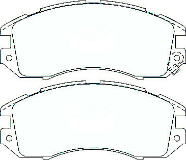 For Subaru Impreza 4 Wheel Disc 93-96 DB1185 DB1186 Front Rear Disc Brake Pads