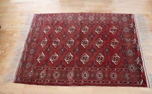 Sincere Alte Orientteppich Turkmene Handgeknüpft ? Turkmenische Teppiche Teppiche & Flachgewebe Ca.117cm X 165cm Yet Not Vulgar
