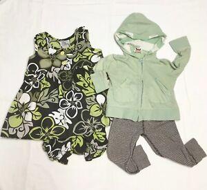 baby-girl-Lot-of-3-Hawaii-dress-set-Hoodie-Leggins-12-months