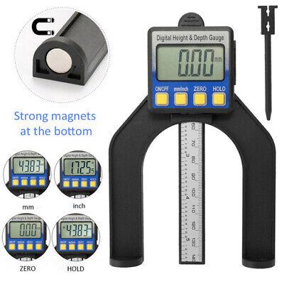 Digital Höhenmessgerät 0-80mm LCD Meßschieber Tiefenmesser für Holzbearbeitung