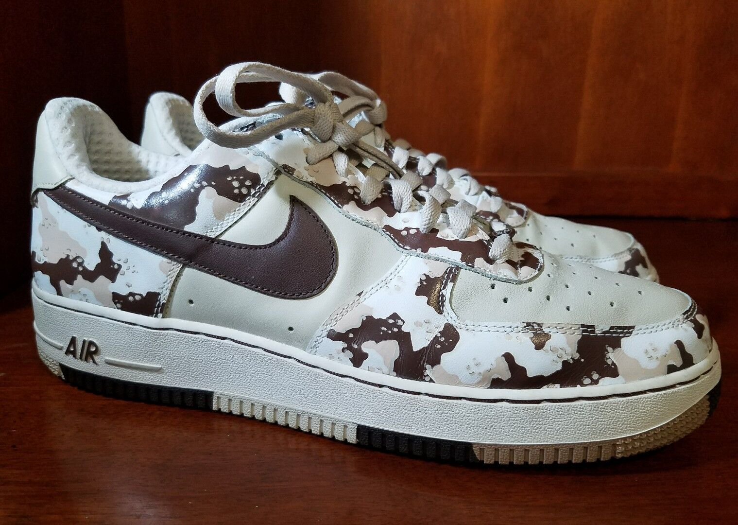 Men Nike Air Force 1 SWOOSH 06 Camouflage Fashion Sneakers Size US 11,