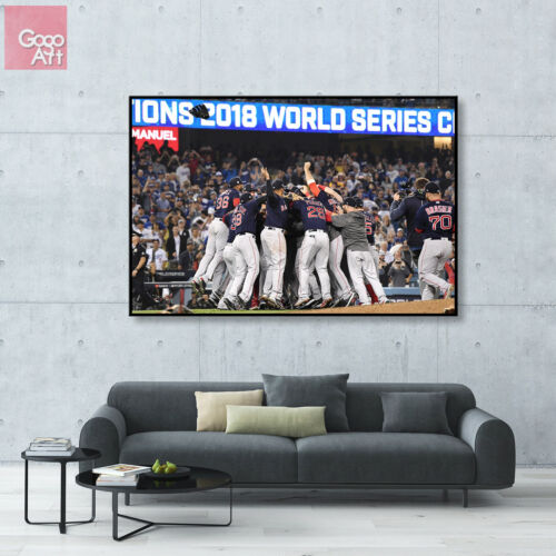 Canvas print wall art big poster 2018 Word Series Baseball Champions Red Sox mlb