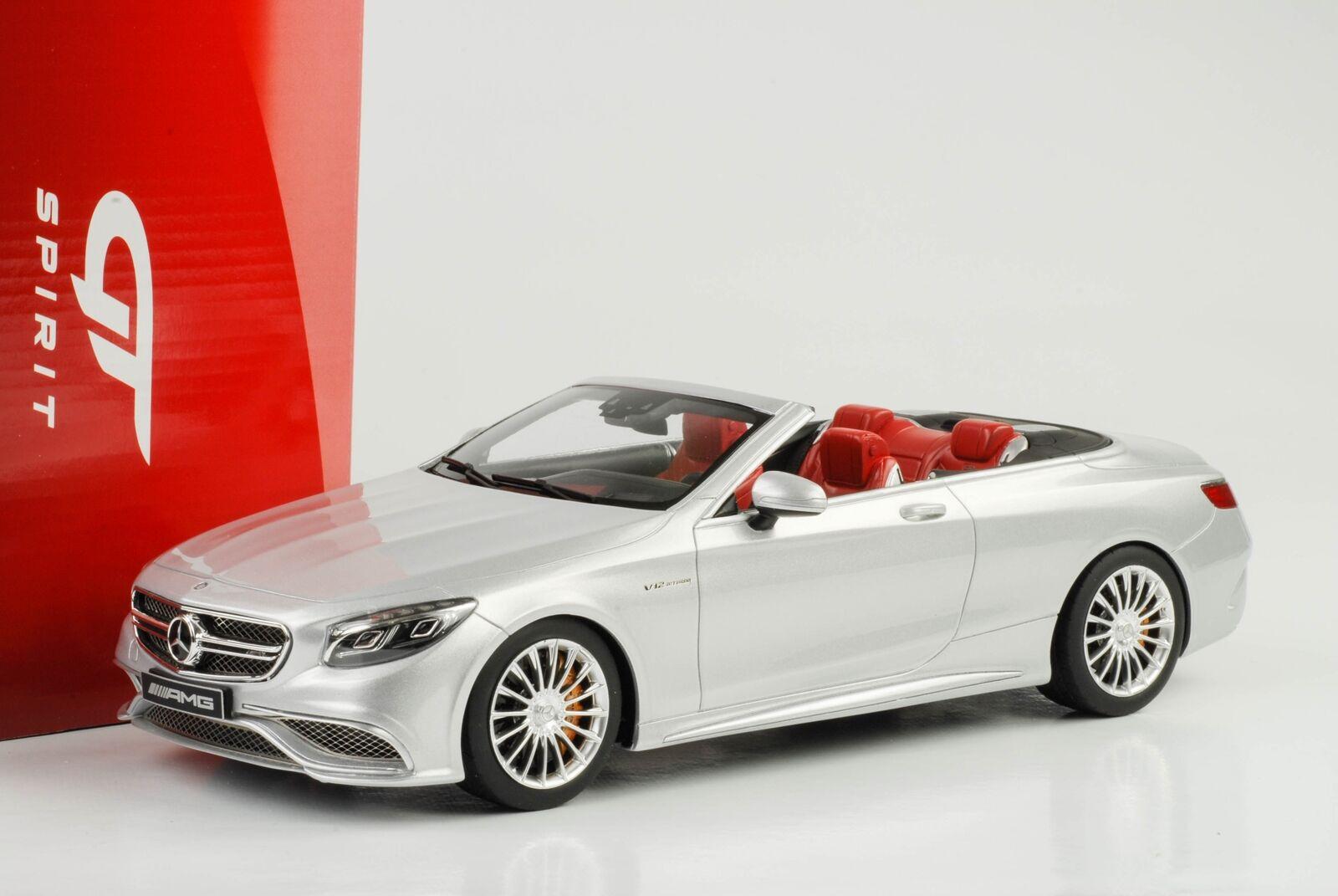 Mercedes - benz amg s 65 v12 cabrio 2017 cabriolet Silber 1,18 gt - geist gt764